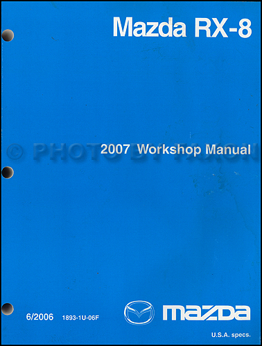 2007 mazda rx 8 wiring diagram manual original rx8