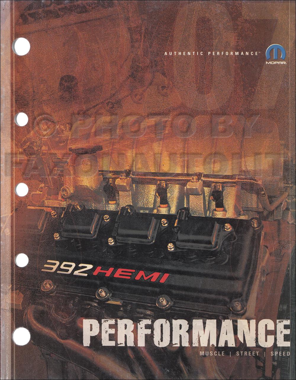 2007 MoPar Performance Parts Book Original