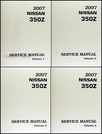 2007 nissan 350z original repair shop manual 4 volume set rh faxonautoliterature com nissan 350z repair manual pdf nissan 350z service manual
