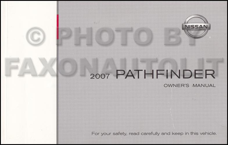 nissan pathfinder 2007 manual
