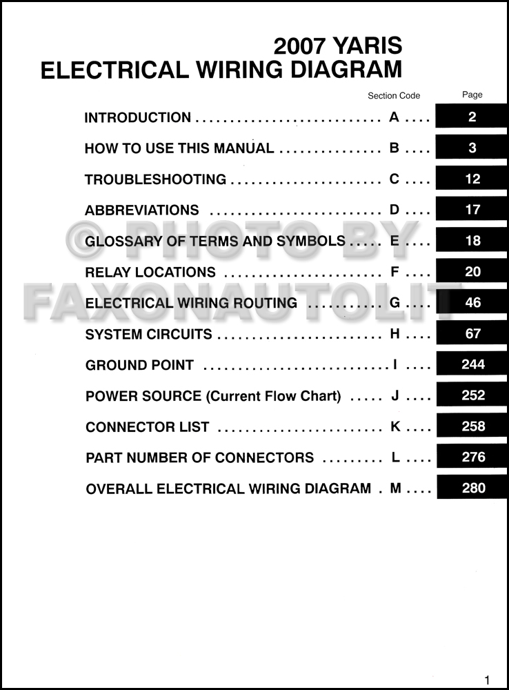 2007ToyotaYarisEWD TOC 2007 toyota yaris wiring diagram manual original 2013 yaris speaker wire diagram at gsmx.co