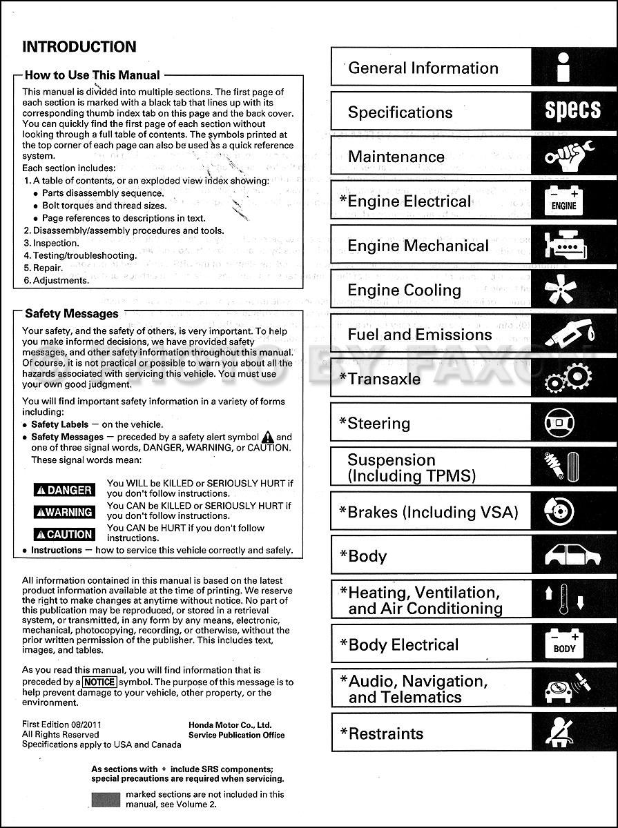 2008 2012 honda accord v6 repair shop manual original 2 volume set 2008 honda accord workshop manual 2008 honda accord repair manual free download