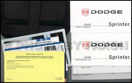 2008 dodge sprinter owner s manual package original 2500 3500 rh faxonautoliterature com Dodge Sprinter Specifications 2500 3500 Dodge Sprinter Specifications 2500 3500