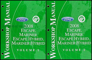 2008 ford escape mercury mariner wiring diagram manual original 2008 escape mariner repair shop manual original set for both gas hybrid 159 00
