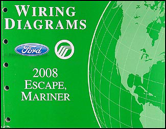 2008FordEscapeWD 2008 ford escape & mercury mariner wiring diagram manual original 2008 ford explorer wiring diagram at bayanpartner.co