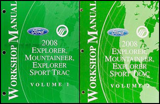 2008 ford explorer mercury mountaineer repair shop manual set original rh faxonautoliterature com 2008 Ford Explorer XLT 2008 Ford Explorer Sync Manual