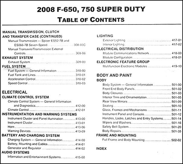 ford super duty    repair shop manual original