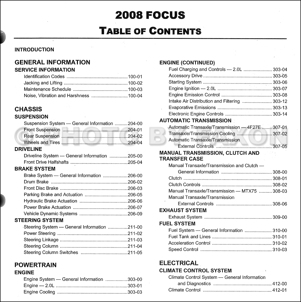 service manual pdf 2008 ford focus repair manual used. Black Bedroom Furniture Sets. Home Design Ideas