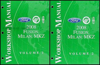 2008 fusion milan mkz wiring diagram manual original 2008 fusion milan mkz repair shop manual 2 volume set original 144 00