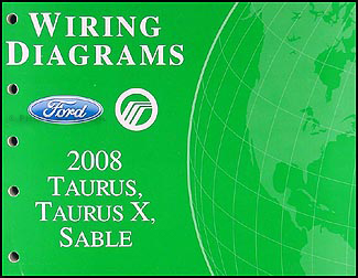 2008 ford taurus, taurus x, sable wiring diagrams manual original 2007 Ford Taurus AC Wiring Diagram