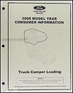 2008 Ford Pickup Camper Loading Instructions Original Consumer Info