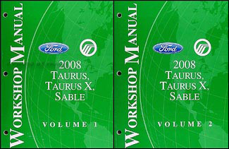 2008 ford taurus taurus x sable wiring diagrams manual original 2008 ford taurus and sable repair shop manual original 2 vol set 149 00