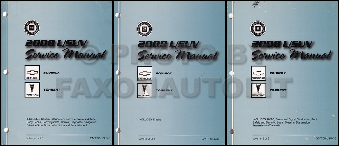 2007 Chevrolet Equinox Pontiac Torrent Repair Shop Manual Original Set Of 2