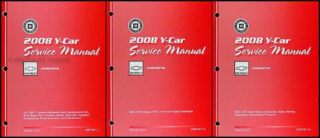 2008 Chevrolet Corvette Repair Shop Manual Original 3 Volume Set