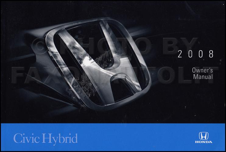honda civic hybrid 2009 owners manual