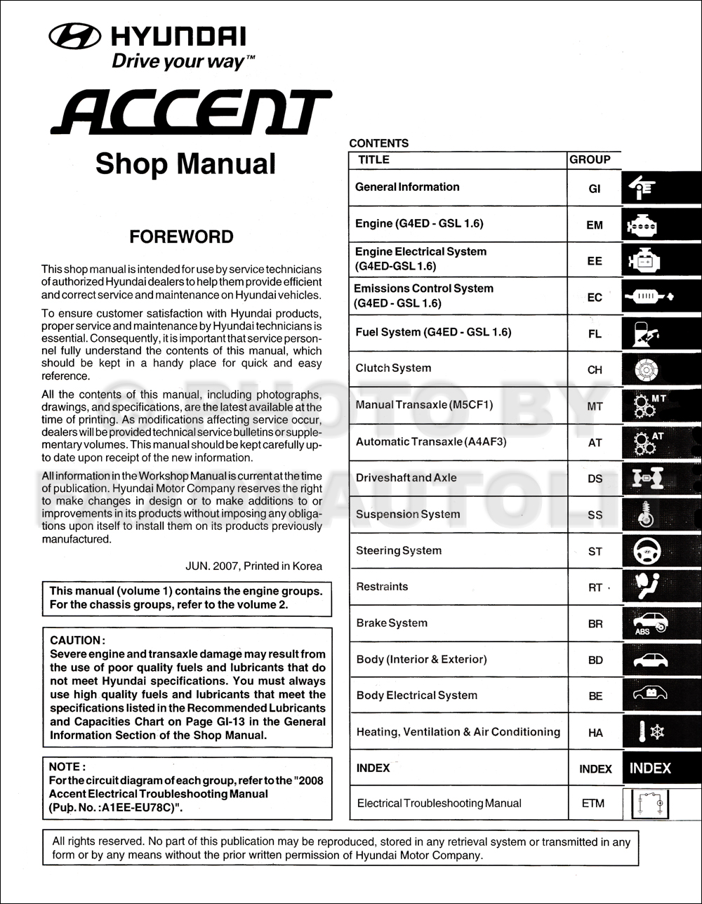 2008 hyundai accent repair manual