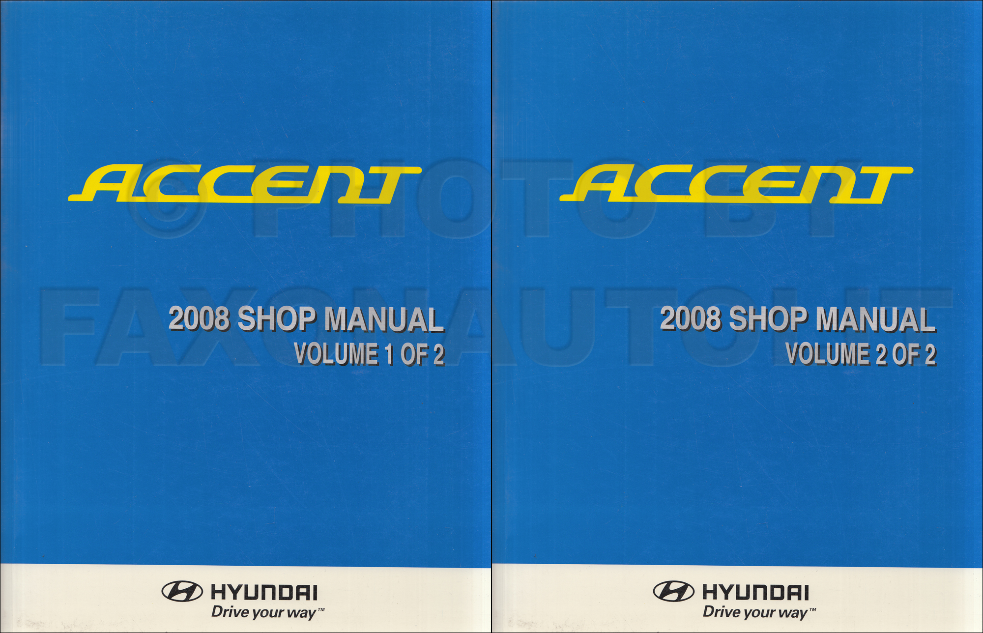2008 Hyundai Accent Repair Shop Manual Original 2 Volume Set Schematic 1999