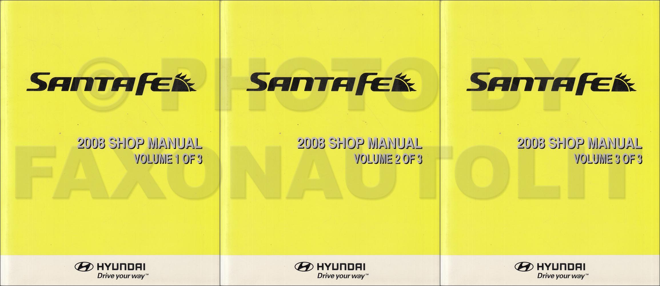 2008 hyundai santa fe repair shop manual 3 volume set original rh faxonautoliterature com 2004 hyundai santa fe owners manual pdf 2004 hyundai santa fe repair manual free download