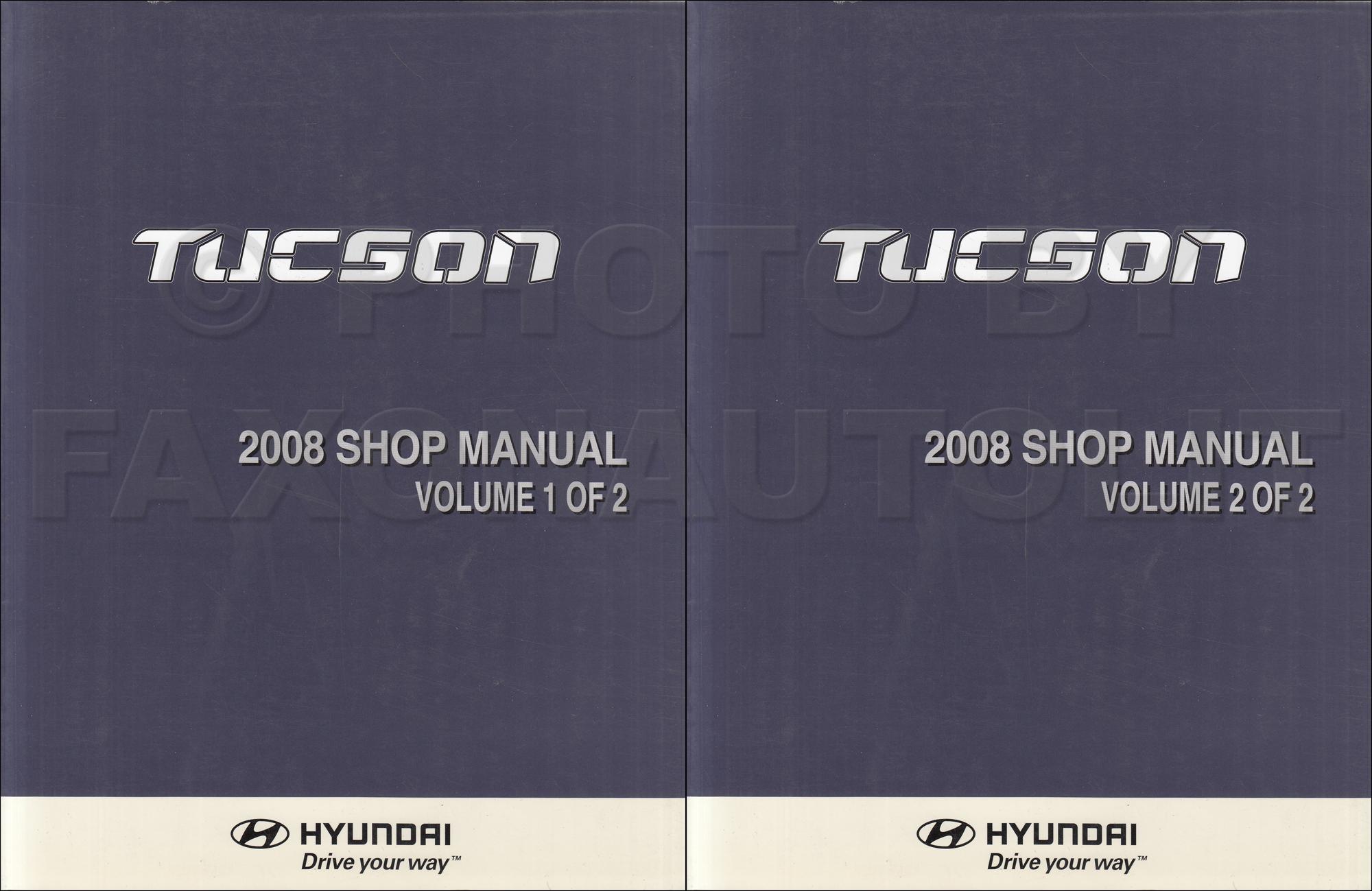 2008 hyundai tucson repair shop manual 2 volume set original. Black Bedroom Furniture Sets. Home Design Ideas