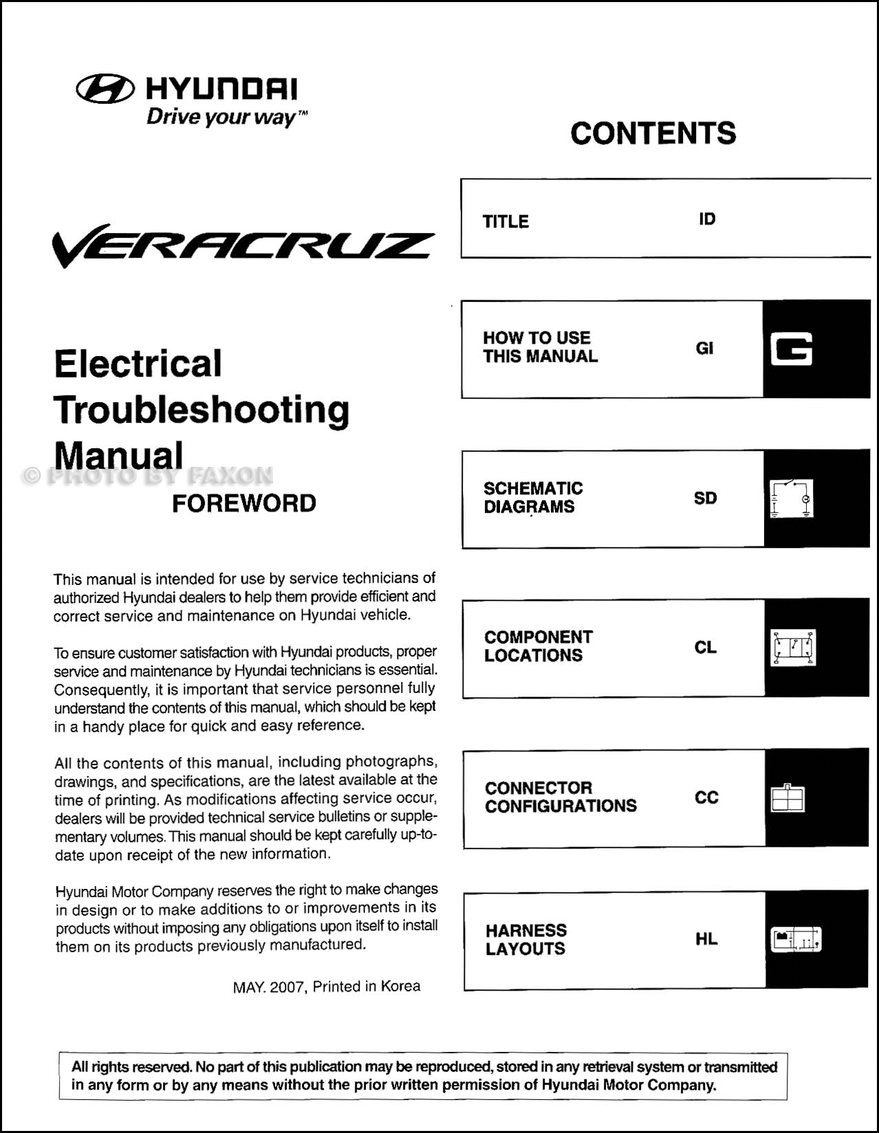 2008HyundaiVeracruzETM TOC 2008 hyundai veracruz electrical troubleshooting manual original hyundai veracruz trailer wiring diagram at soozxer.org