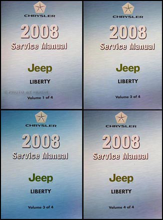 2008 jeep liberty repair shop manual original 4 vol set rh faxonautoliterature com Libierty 2008 Jeep Libierty 2008 Jeep