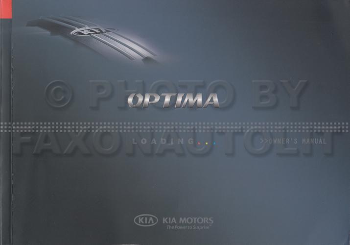 2008 kia optima owners manual original rh faxonautoliterature com 2008 kia optima service manual Kia Optima Manual PDF