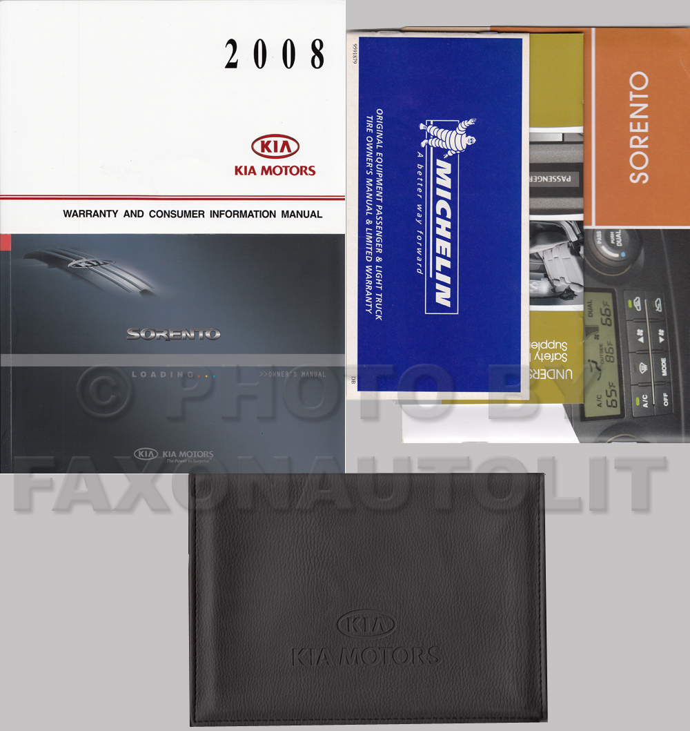 2008 kia sorento owners manual original