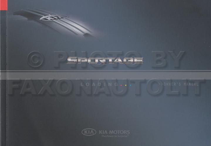 2008 kia sportage owners manual original rh faxonautoliterature com 2006 kia sportage owners manual 2006 kia sportage owners manual