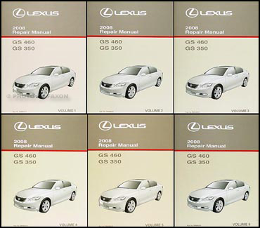 2008 lexus gs 350 and gs 460 repair shop manual original 6 volume set rh faxonautoliterature com lexus es350 owners manual pdf lexus es350 owners manual 2016