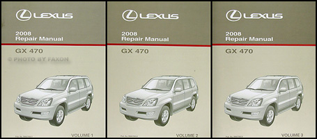 2008 lexus gx 470 repair shop manual original 3 volume set rh faxonautoliterature com 2008 lexus gx 470 manual online 2008 Lexus GX470 Interior