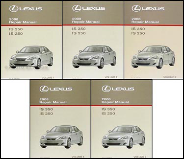 2008 Lexus Is 350 Is 250 Repair Shop Manual Set Original Rh  Faxonautoliterature Com 2008 Lexus Is250 Manual Transmission 2008 Lexus Is  250 Manual ...