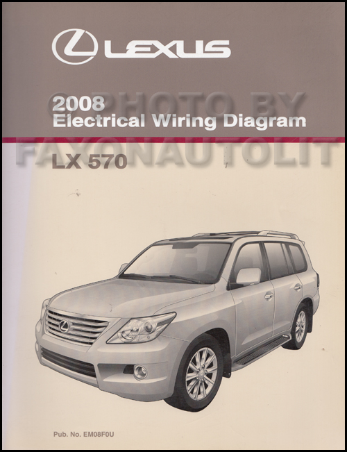 2008 Lexus Lx 570 Wiring Diagram Manual Original