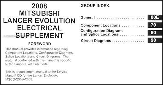 2008MitsubishiLancerEvoETMS TOC 2008 mitsubishi lancer evolution wiring diagram manual original evo x wiring diagram at soozxer.org