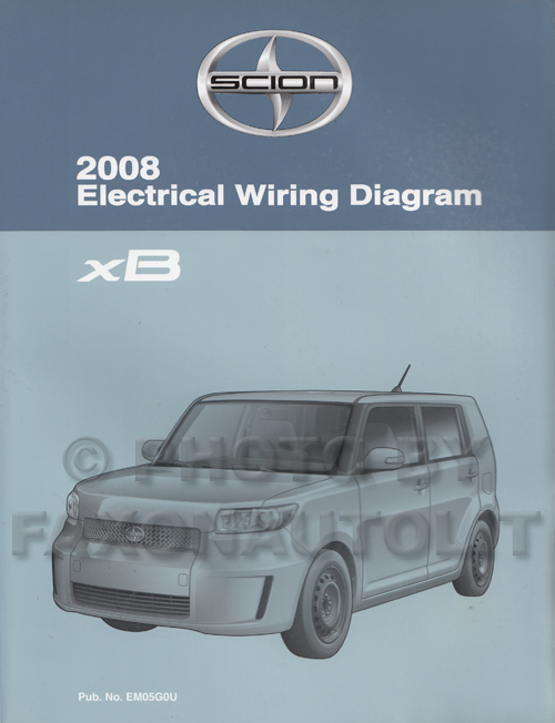 2008 scion xb wiring diagram manual original