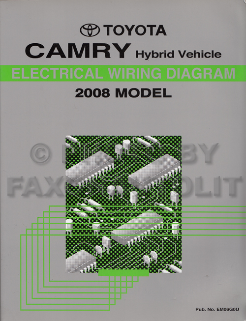 2008 Toyota Camry Hybrid Wiring Diagram Manual Original