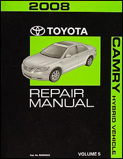 2008 toyota camry hybrid repair shop manual original volume 5 only. Black Bedroom Furniture Sets. Home Design Ideas