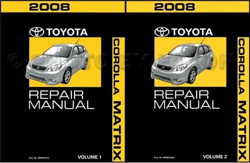 2006 Toyota Matrix - Repair Manual Information (2 pages)