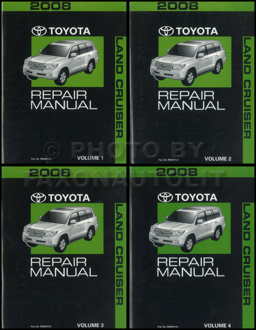 2008 Toyota Land Cruiser Repair Manual 4 Vol Set Original Oem Service Shop Books