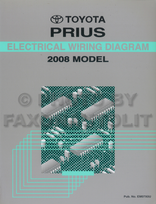 2008 Toyota Prius Wiring Diagram Manual Originalrhfaxonautoliterature: 2016 Toyota Prius Wiring Diagram At Gmaili.net