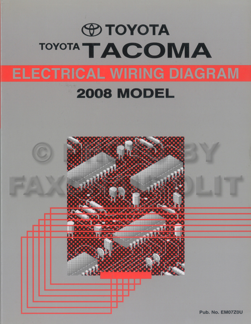 2008 toyota tacoma pickup wiring diagram manual original2006 Toyota Tacoma Wiring Schematic #3