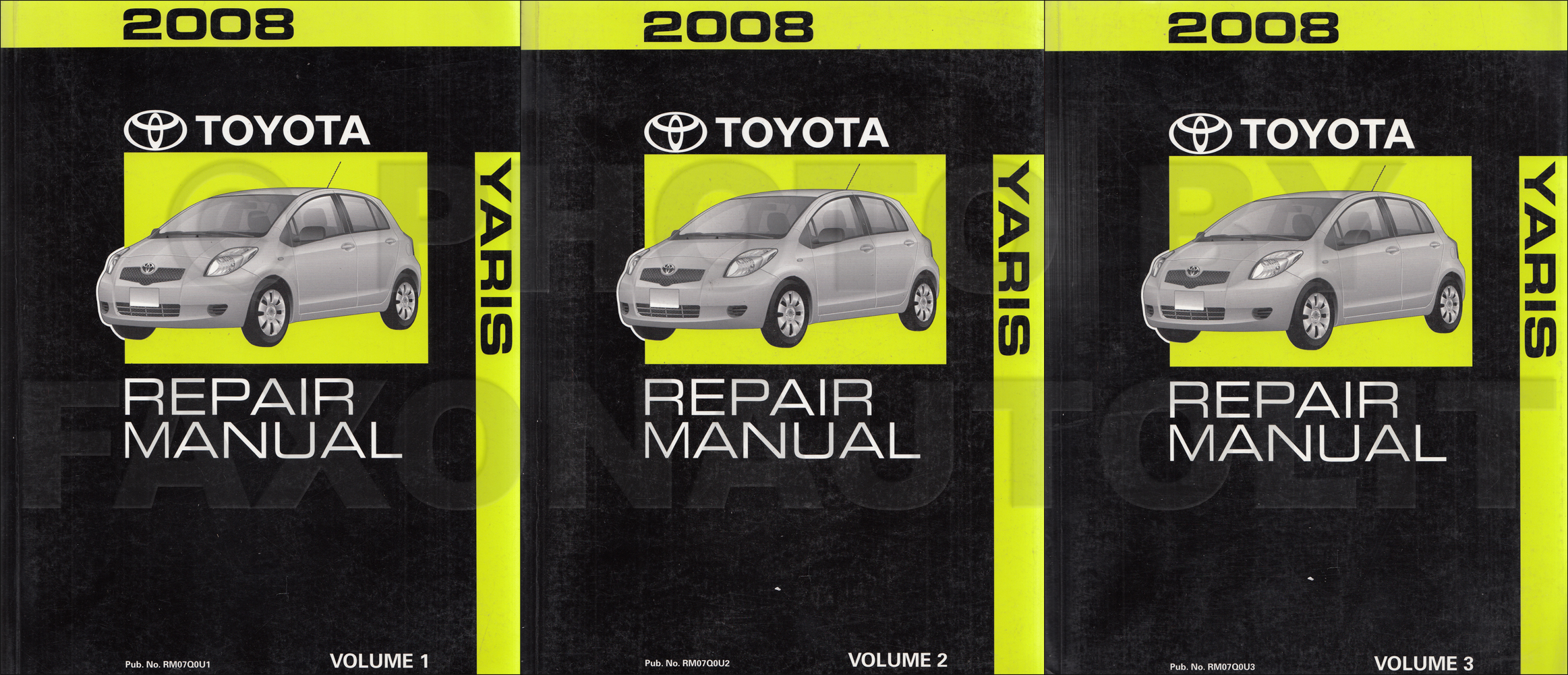2008 toyota yaris repair service manual original set rh faxonautoliterature com 2007 toyota yaris shop manual 2007 toyota yaris service manual