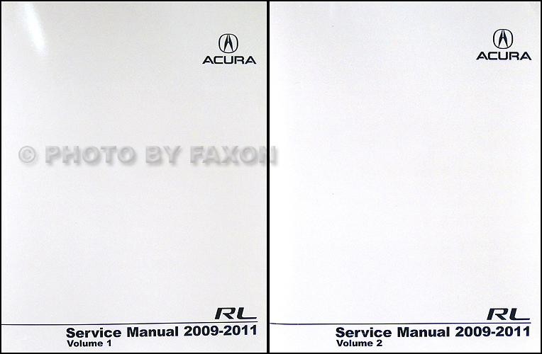 2009 Acura Rl Repair Shop Manual Original 2 Volume Set