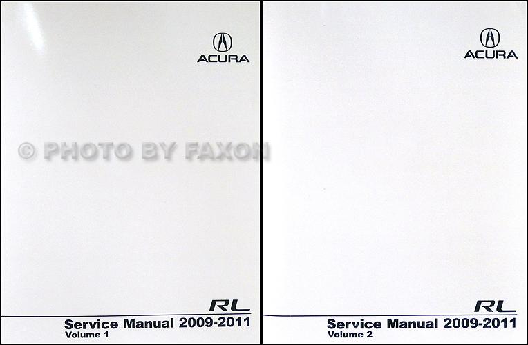2009 Acura Rl Repair Shop Manual Original 2 Volume Set
