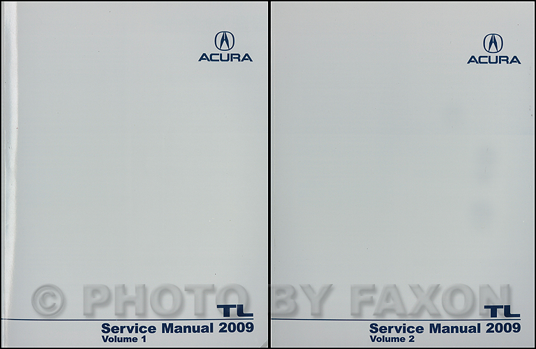 2009 acura tl repair shop manual original 2 volume set rh faxonautoliterature com 2004 Acura TL Owner's Manual 2004 Acura TL Manual Book