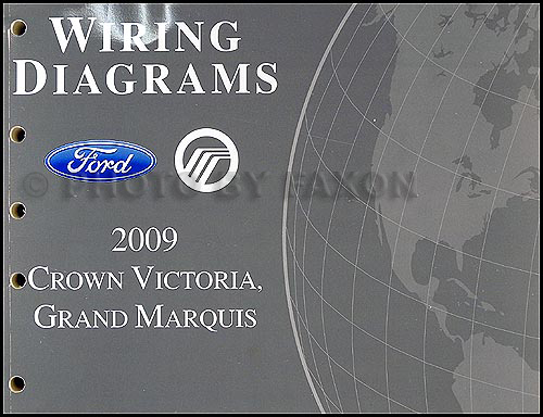 2009 crown victoria grand marquis original wiring diagram manual