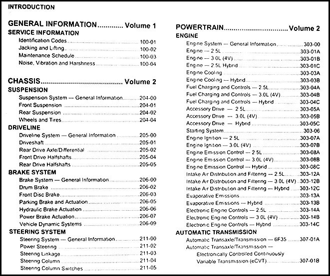 2009 escape mariner gas hybrid repair shop manual original set rh faxonautoliterature com 2009 ford escape shop manual 2009 ford escape service manual pdf