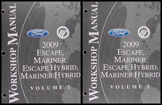 2009 mercury mariner wiring diagrams 2009 ford escape & mercury mariner wiring diagram manual ...