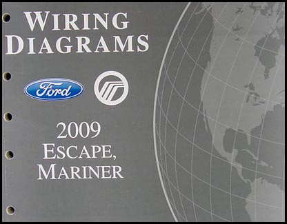 2009 ford escape mercury mariner wiring diagram manual original rh faxonautoliterature com 2009 ford escape headlight wiring diagram 2009 ford escape trailer wiring diagram