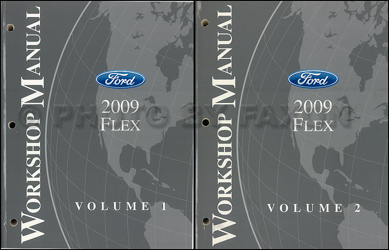 2009 ford flex repair shop manual original 2 volume set. Black Bedroom Furniture Sets. Home Design Ideas