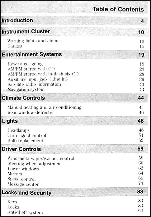 ford mustang owners manual original